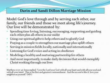 Dillon Marriage Mission