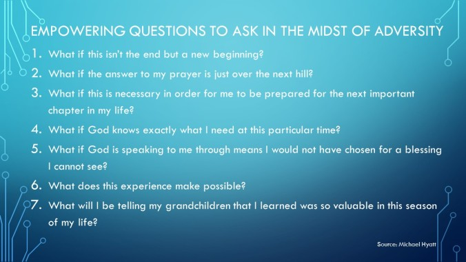 Empowering questions to ask in the midst of