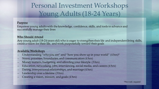 Young Adult Workshops