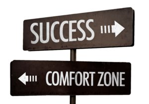 Success - Comfort Zone signpost isolated on white background